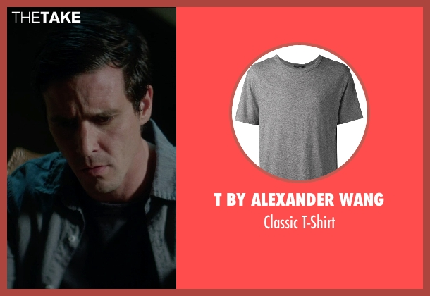 T by Alexander Wang gray t-shirt from Sinister 2 seen with James Ransone (So & So)