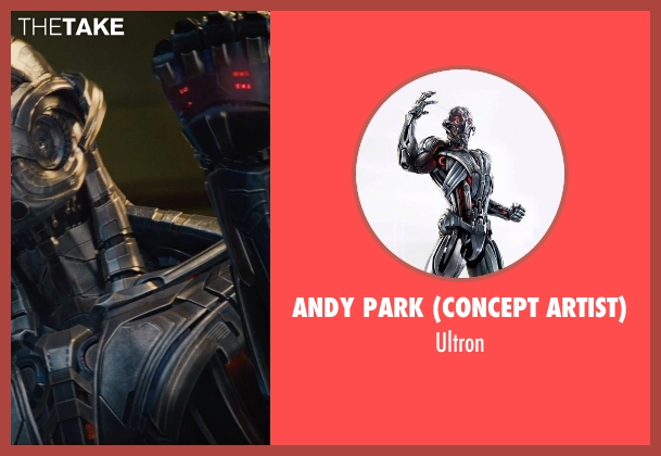 Andy Park (Concept Artist) ultron from Avengers: Age of Ultron seen with James Spader (Ultron)