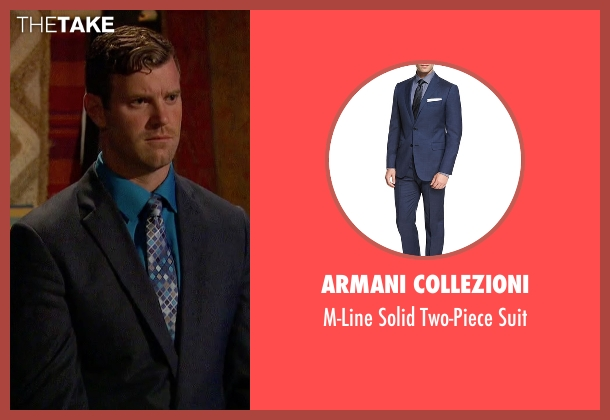 Armani Collezioni  blue suit from The Bachelorette seen with James Taylor