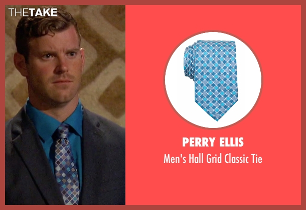 Perry Ellis blue tie from The Bachelorette seen with James Taylor