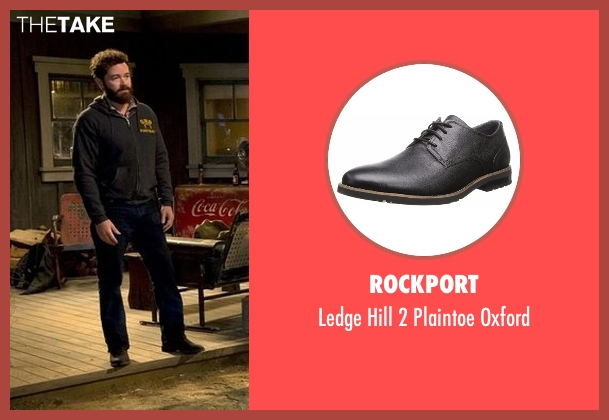 Rockport black oxford from The Ranch seen with Jameson 'Rooster' Bennett (Danny Masterson)