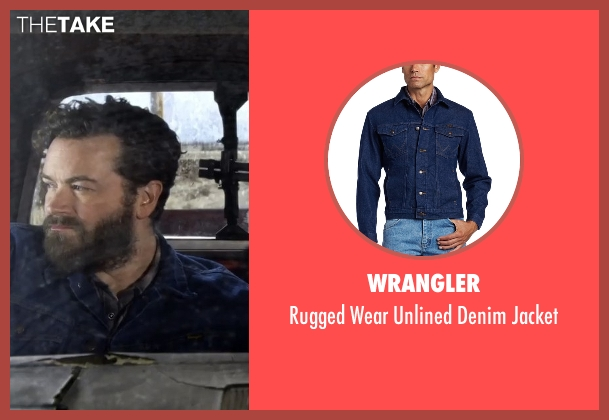 Wrangler blue jacket from The Ranch seen with Jameson 'Rooster' Bennett (Danny Masterson)