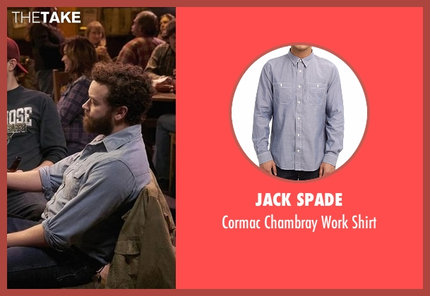 Jack Spade blue shirt from The Ranch seen with Jameson 'Rooster' Bennett (Danny Masterson)