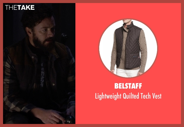 Belstaff brown vest from The Ranch seen with Jameson 'Rooster' Bennett (Danny Masterson)