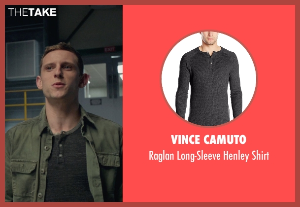 Vince Camuto gray shirt from Fantastic Four seen with Jamie Bell (Ben Grimm / The Thing)