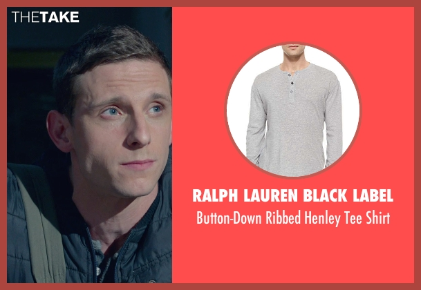 Ralph Lauren Black Label gray shirt from Fantastic Four seen with Jamie Bell (Ben Grimm / The Thing)