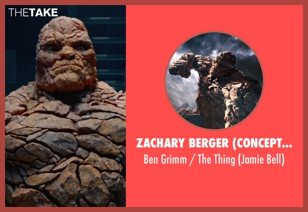 Zachary Berger (Concept Designer) thing from Fantastic Four seen with Jamie Bell (Ben Grimm / The Thing)