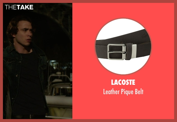 Lacoste black belt from If I Stay seen with Jamie Blackley (Adam)