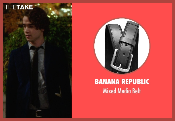 Banana Republic black belt from If I Stay seen with Jamie Blackley (Adam)