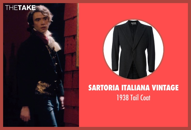 Sartoria Italiana Vintage black coat from If I Stay seen with Jamie Blackley (Adam)
