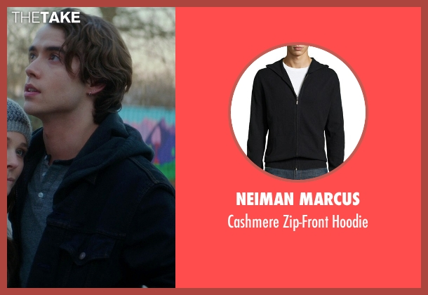 Neiman Marcus black hoodie from If I Stay seen with Jamie Blackley (Adam)
