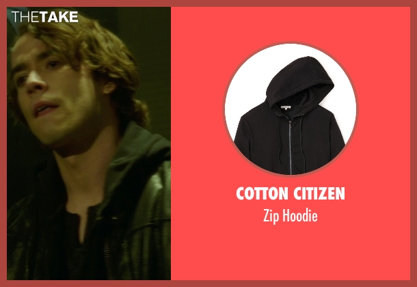 Cotton Citizen black hoodie from If I Stay seen with Jamie Blackley (Adam)