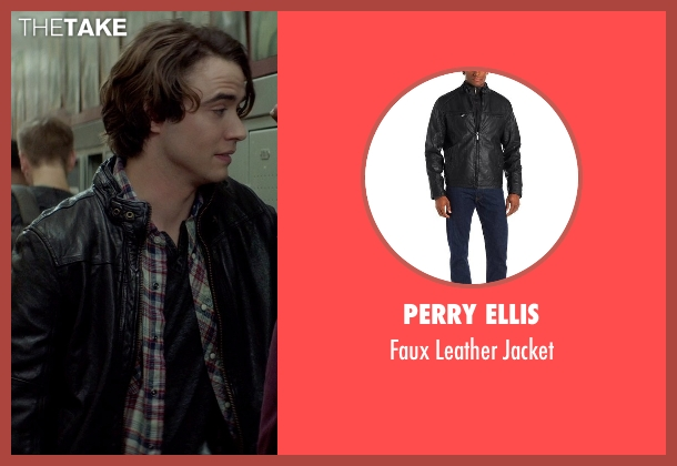 Perry Ellis black jacket from If I Stay seen with Jamie Blackley (Adam)
