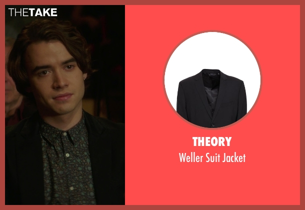 Theory black jacket from If I Stay seen with Jamie Blackley (Adam)
