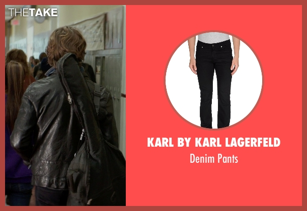 Karl By Karl Lagerfeld black pants from If I Stay seen with Jamie Blackley (Adam)