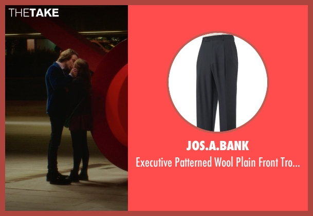 Jos.A.Bank black trousers from If I Stay seen with Jamie Blackley (Adam)