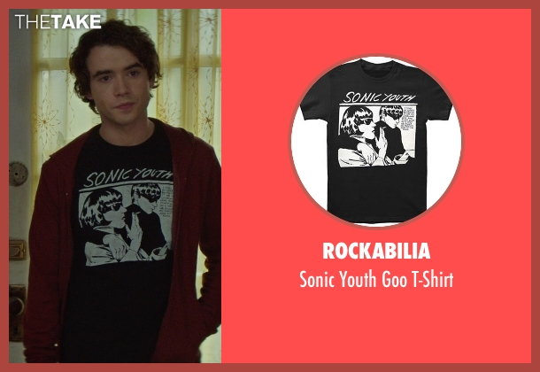 Rockabilia black t-shirt from If I Stay seen with Jamie Blackley (Adam)