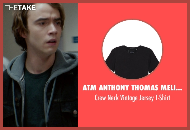ATM Anthony Thomas Melillo black t-shirt from If I Stay seen with Jamie Blackley (Adam)
