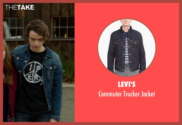 Levi's blue jacket from If I Stay seen with Jamie Blackley (Adam)