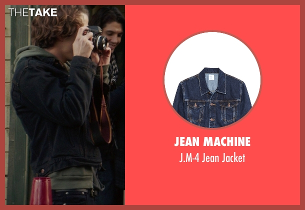 Jean Machine blue jacket from If I Stay seen with Jamie Blackley (Adam)