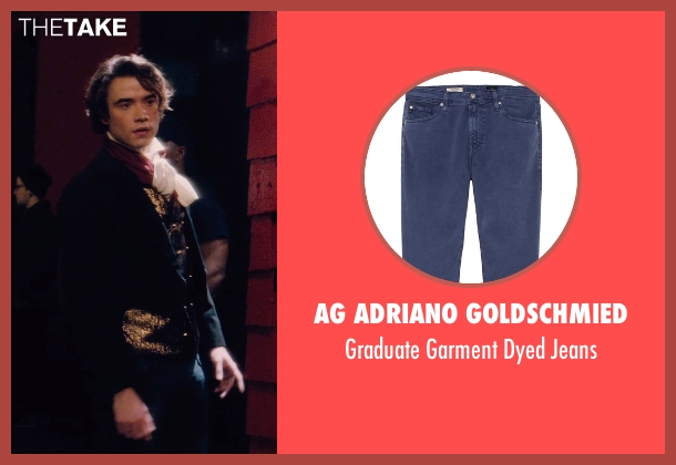 AG Adriano Goldschmied blue jeans from If I Stay seen with Jamie Blackley (Adam)