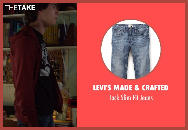 Levi's Made & Crafted blue jeans from If I Stay seen with Jamie Blackley (Adam)