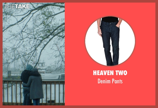 Heaven Two blue pants from If I Stay seen with Jamie Blackley (Adam)