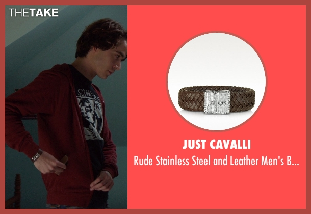 Just Cavalli brown bracelet from If I Stay seen with Jamie Blackley (Adam)