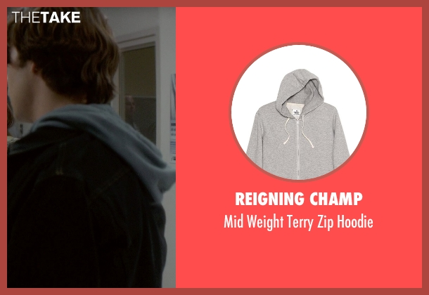 Reigning Champ gray hoodie from If I Stay seen with Jamie Blackley (Adam)