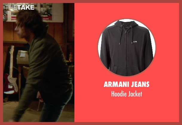 Armani Jeans gray jacket from If I Stay seen with Jamie Blackley (Adam)