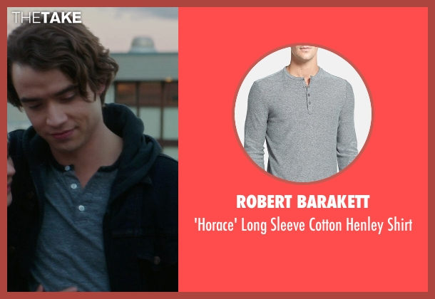 Robert Barakett gray shirt from If I Stay seen with Jamie Blackley (Adam)