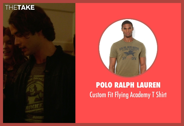 Polo Ralph Lauren green shirt from If I Stay seen with Jamie Blackley (Adam)