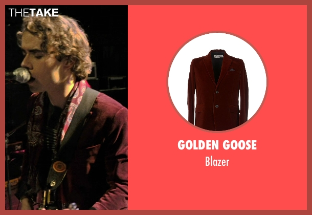 Golden Goose red blazer from If I Stay seen with Jamie Blackley (Adam)