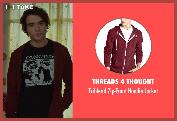 Threads 4 Thought red jacket from If I Stay seen with Jamie Blackley (Adam)