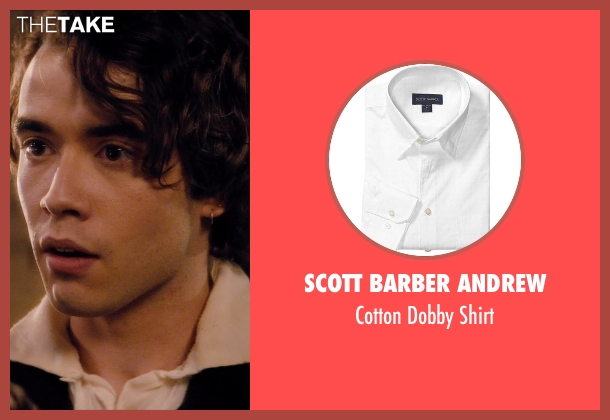 Scott Barber Andrew white shirt from If I Stay seen with Jamie Blackley (Adam)