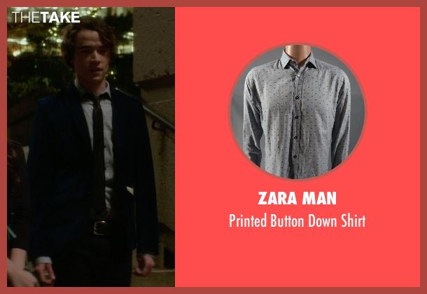 Zara Man white shirt from If I Stay seen with Jamie Blackley (Adam)