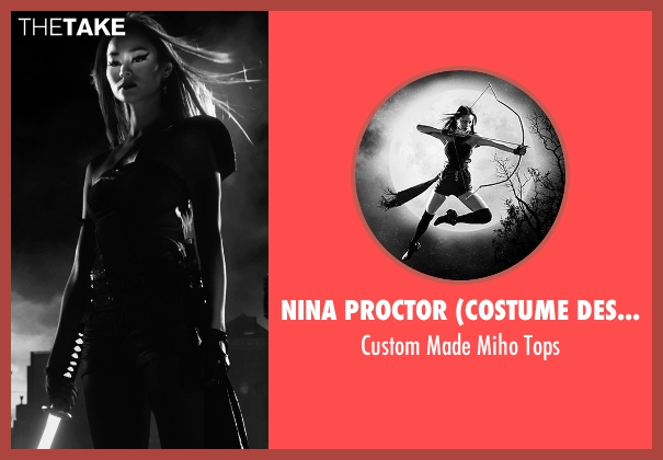 Nina Proctor (Costume Designer) black tops from Frank Miller's Sin City: A Dame To Kill For seen with Jamie Chung (Miho)