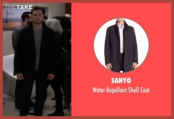 Sanyo black coat from Fifty Shades Darker seen with Jamie Dornan (Christian Grey)