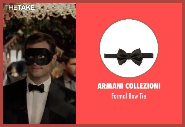 Armani Collezioni  black tie from Fifty Shades Darker seen with Jamie Dornan (Christian Grey)