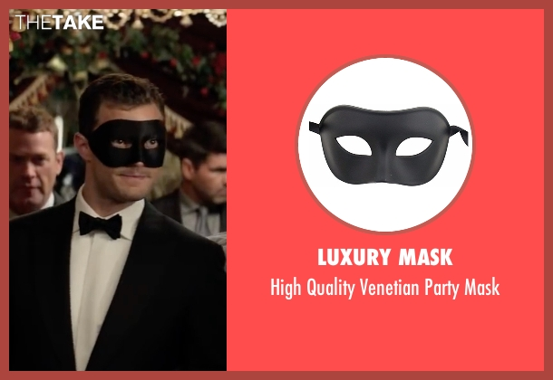 Luxury Mask mask from Fifty Shades Darker seen with Jamie Dornan (Christian Grey)