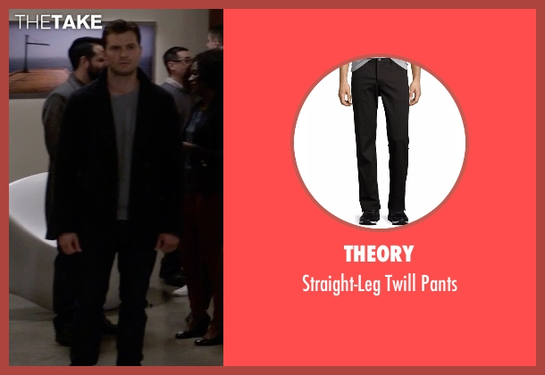 Theory black pants from Fifty Shades Darker seen with Jamie Dornan (Christian Grey)