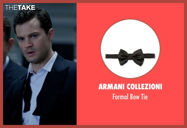 Armani Collezioni black tie from Fifty Shades Darker seen with Jamie Dornan (Christian Grey)