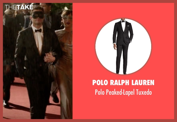 Polo Ralph Lauren black tuxedo from Fifty Shades Darker seen with Jamie Dornan (Christian Grey)