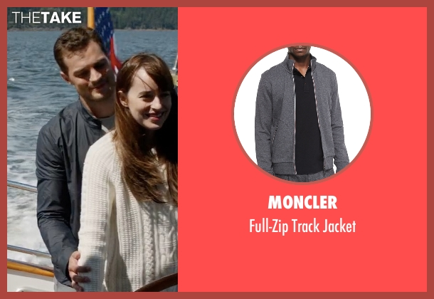 Moncler gray jacket from Fifty Shades Darker seen with Jamie Dornan (Christian Grey)