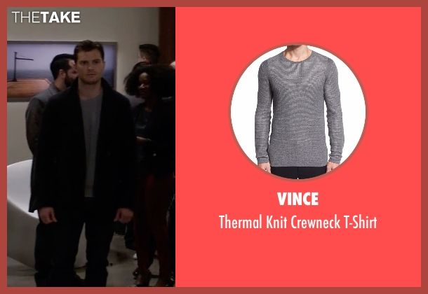 Vince gray t-shirt from Fifty Shades Darker seen with Jamie Dornan (Christian Grey)