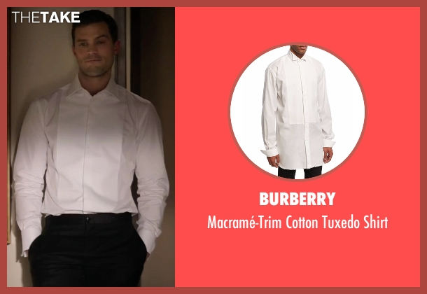 Burberry white shirt from Fifty Shades Darker seen with Jamie Dornan (Christian Grey)
