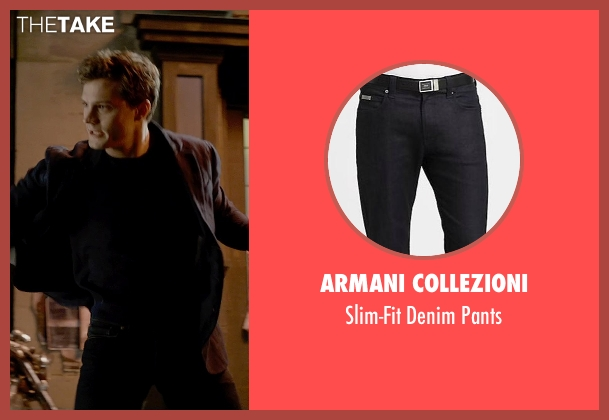 Armani Collezioni black pants from Fifty Shades of Grey seen with Jamie Dornan (Christian Grey)