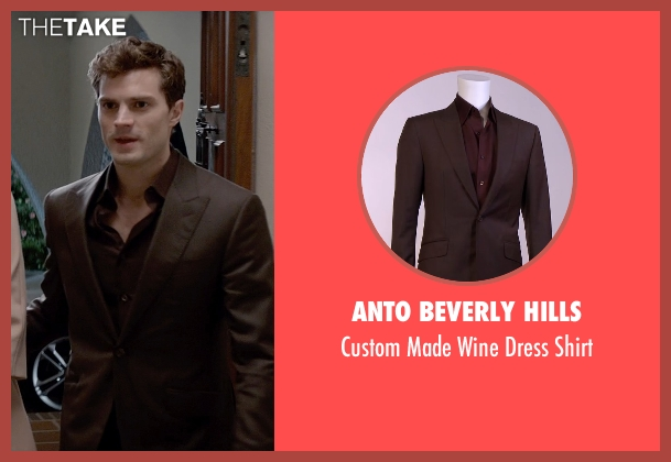 Anto Beverly Hills black shirt from Fifty Shades of Grey seen with Jamie Dornan (Christian Grey)