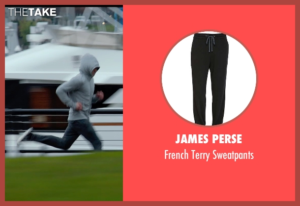 James Perse black sweatpants from Fifty Shades of Grey seen with Jamie Dornan (Christian Grey)