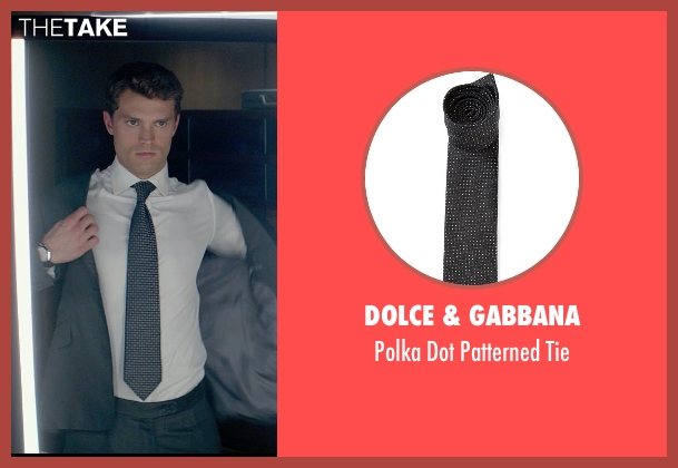 Dolce & Gabbana black tie from Fifty Shades of Grey seen with Jamie Dornan (Christian Grey)